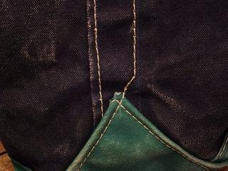 8周年−LLビーン 紺x緑トート (11).jpg