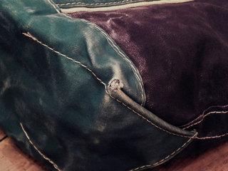 8周年−LLビーン 紺x緑トート (7).jpg
