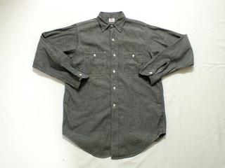 初売り グレー シャンブレーシャツ OX−HIDE (1).jpg