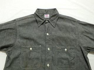 初売り グレー シャンブレーシャツ OX−HIDE (2).jpg