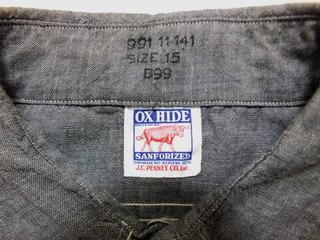 初売り グレー シャンブレーシャツ OX−HIDE (3).jpg