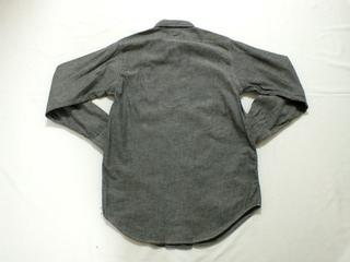 初売り グレー シャンブレーシャツ OX−HIDE (5).jpg